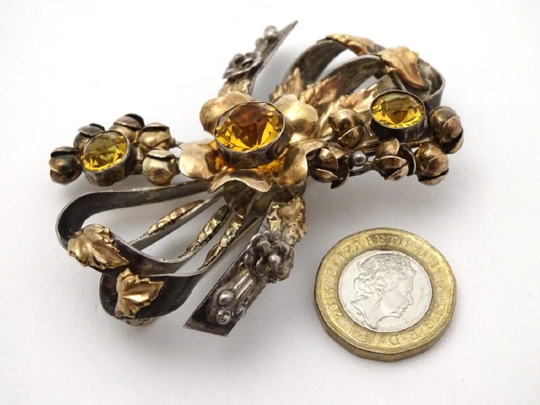 American Vintage Costume Jewelery by Hobé : A silver - 3