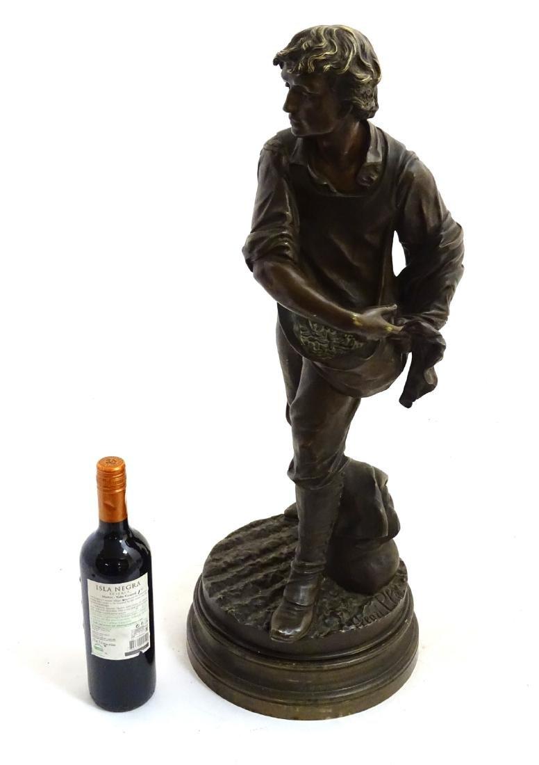 Henri Honore Ple (1852-1922) Patinated bronze sculpture
