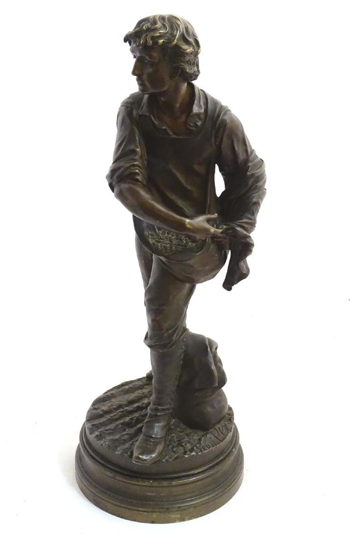 Henri Honore Ple (1852-1922) Patinated bronze sculpture - 6