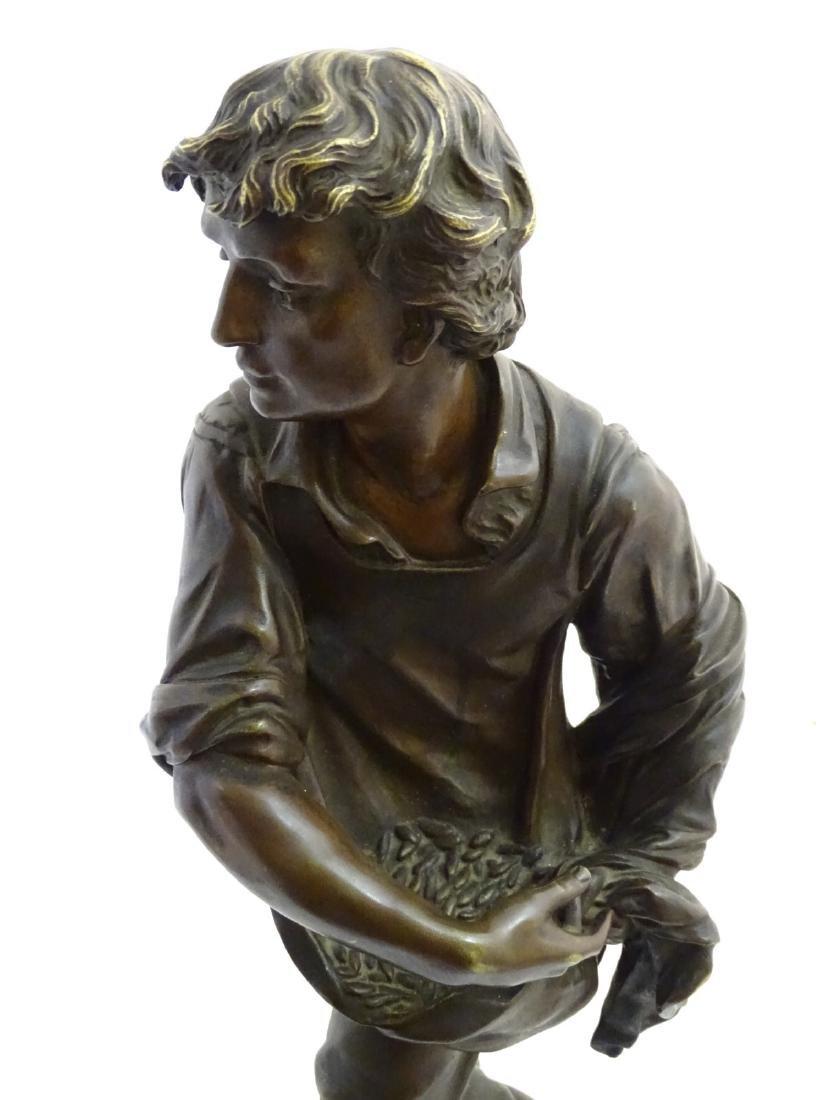 Henri Honore Ple (1852-1922) Patinated bronze sculpture - 7