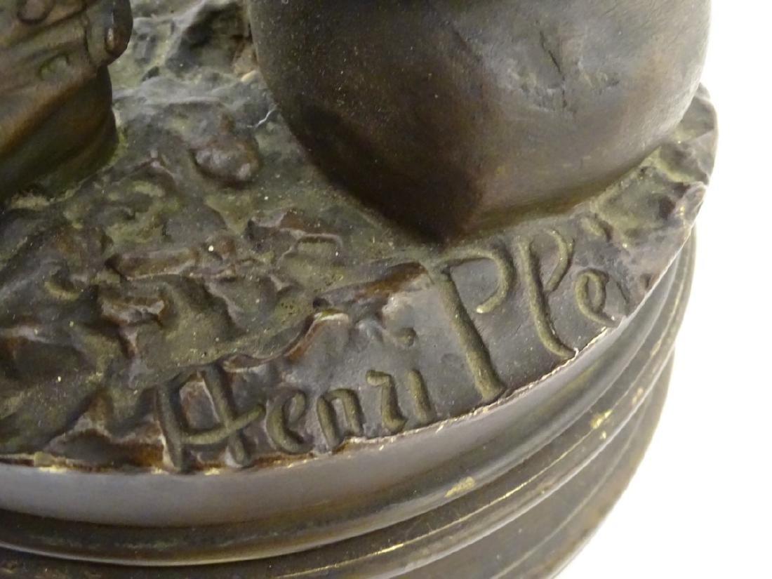 Henri Honore Ple (1852-1922) Patinated bronze sculpture - 8