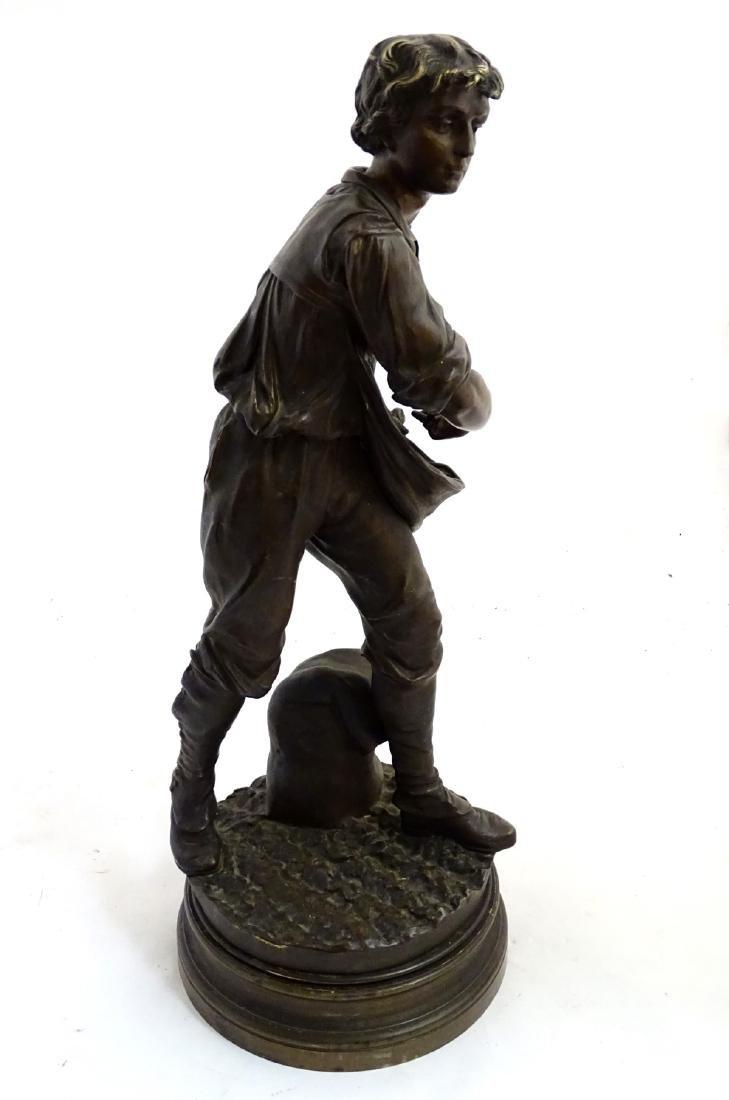 Henri Honore Ple (1852-1922) Patinated bronze sculpture - 9