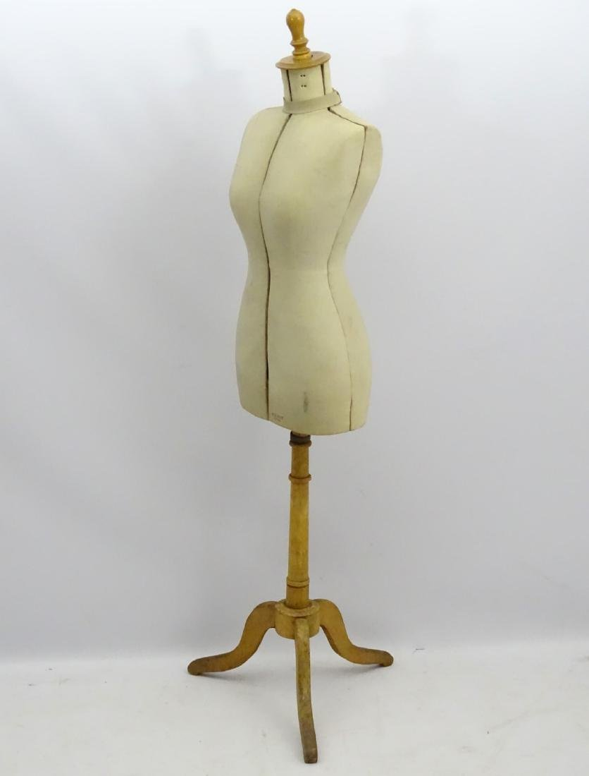 An early 20thC French dress maker's mannequin, fully