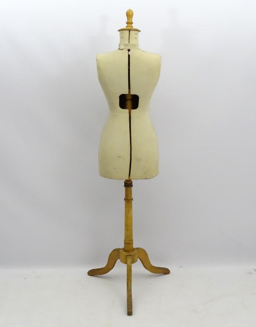 An early 20thC French dress maker's mannequin, fully - 2