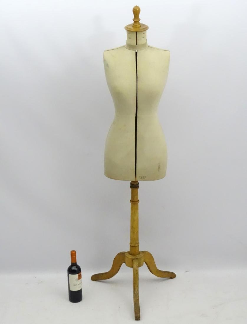 An early 20thC French dress maker's mannequin, fully - 3