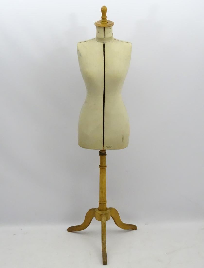 An early 20thC French dress maker's mannequin, fully - 4