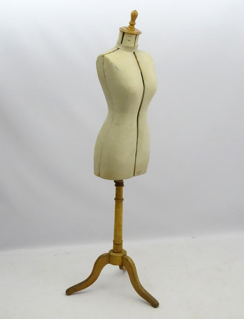 An early 20thC French dress maker's mannequin, fully - 5