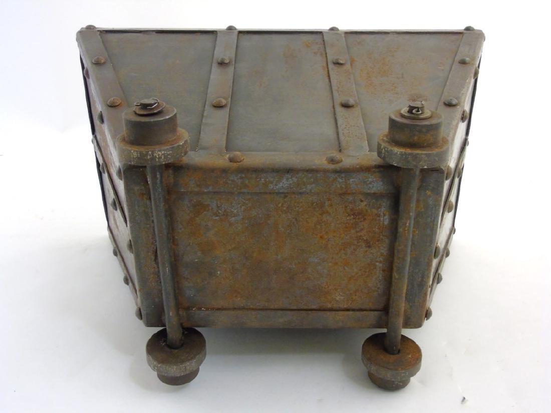 A circa 1900 Coal / log / waste paper bin formed as a - 3