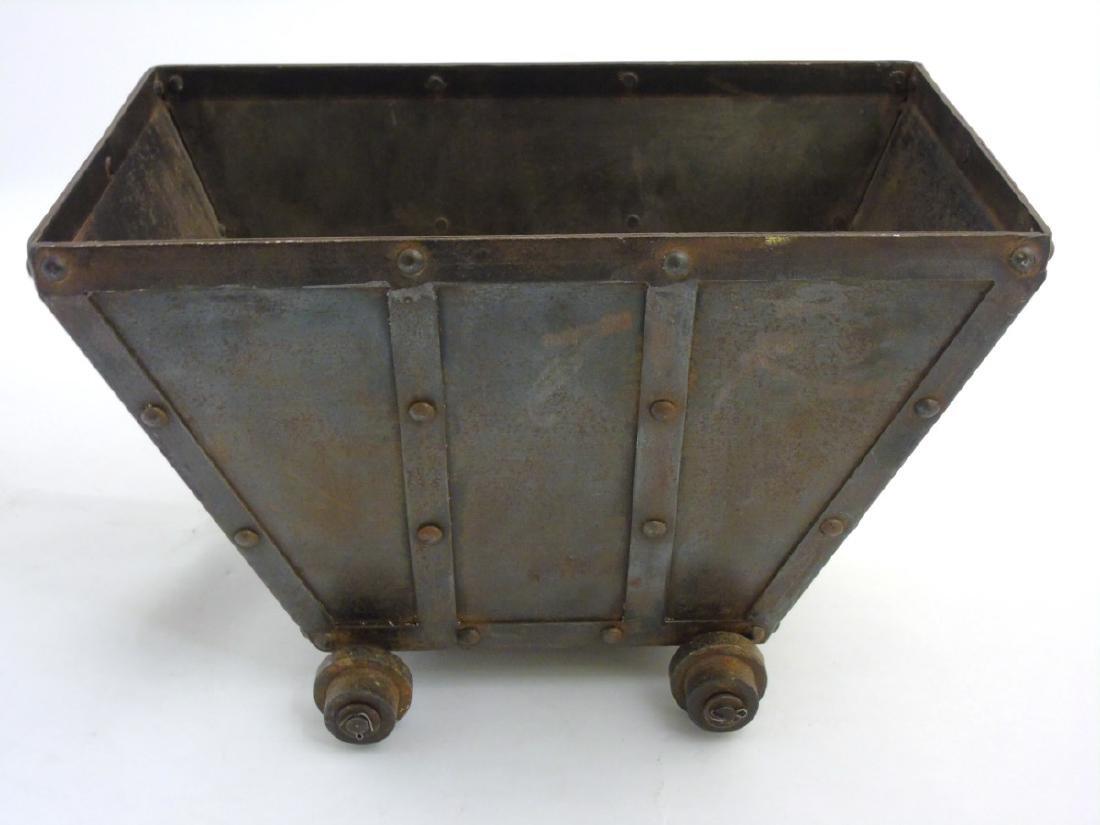 A circa 1900 Coal / log / waste paper bin formed as a - 5
