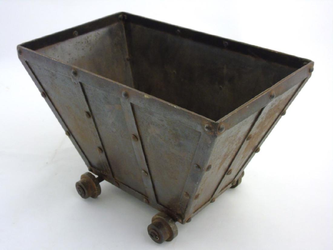 A circa 1900 Coal / log / waste paper bin formed as a - 6