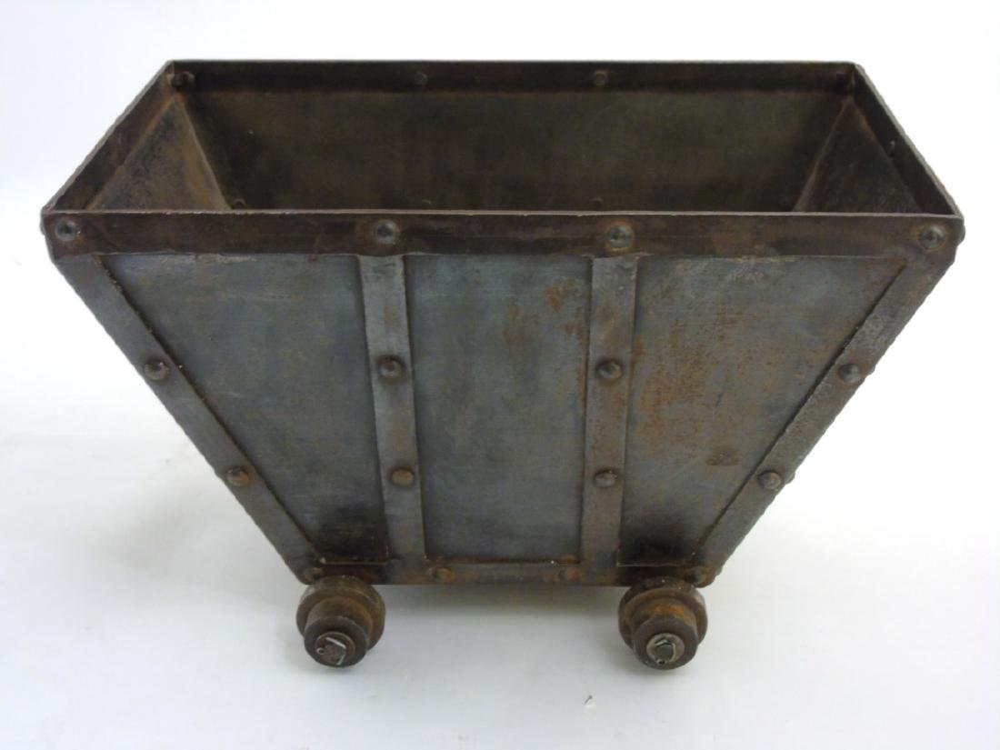 A circa 1900 Coal / log / waste paper bin formed as a - 7