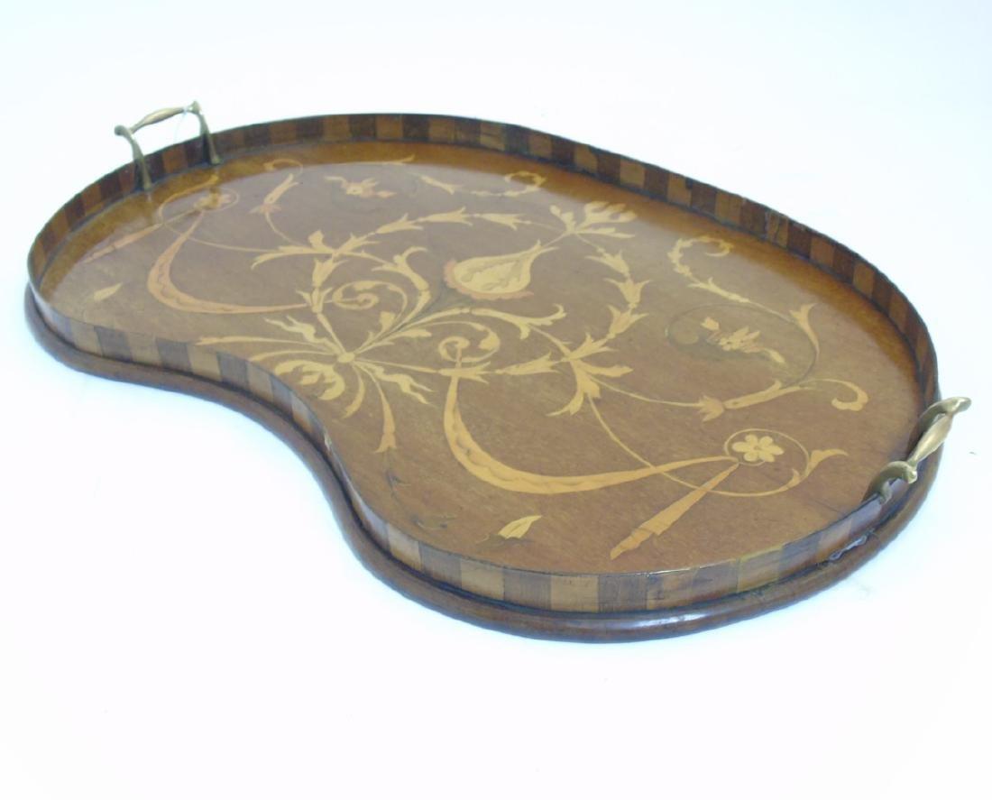 An Edwardian inlaid mahogany and Sheraton revival