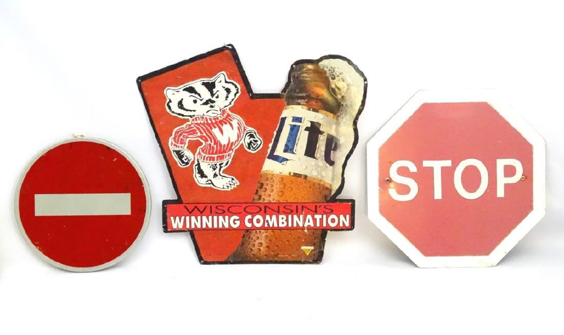 Miller Brewing Co: An Advertising aluminum sign titled