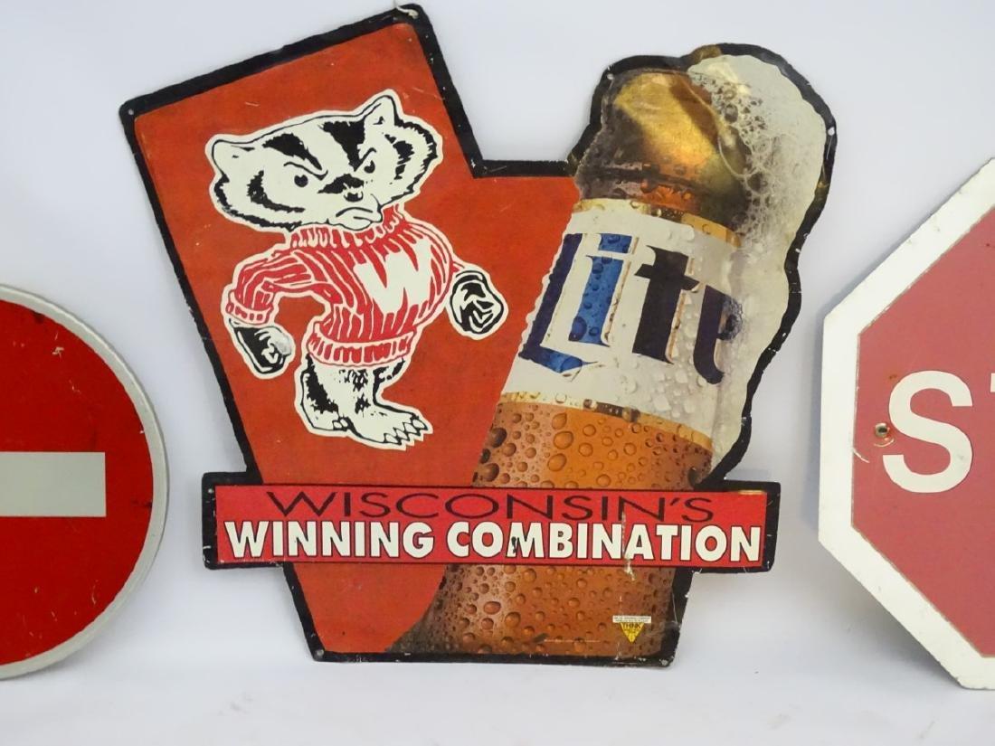 Miller Brewing Co: An Advertising aluminum sign titled - 4