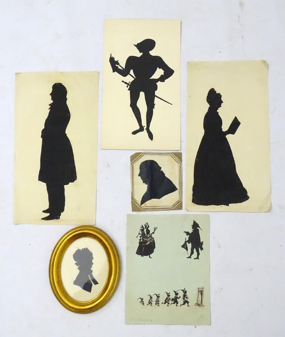 Silhouettes : a quantity of assorted cut out