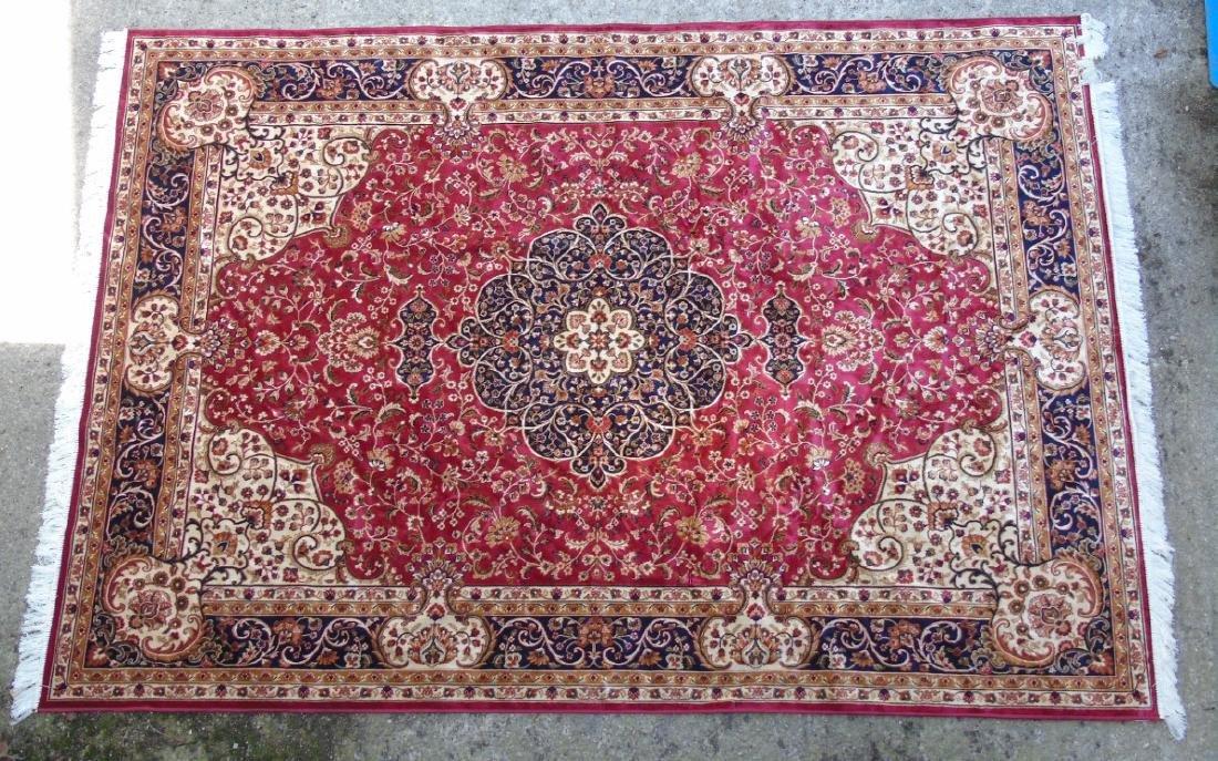 Rug / Carpet : Keshan machine made carpet with red - 3