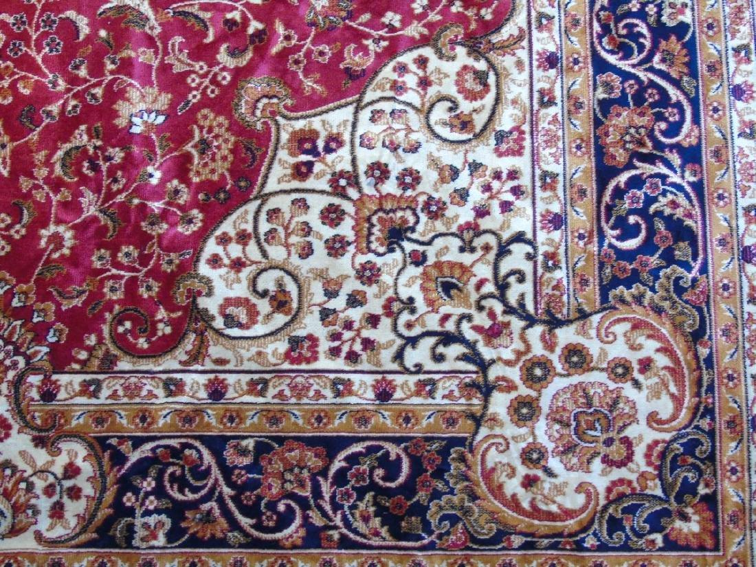 Rug / Carpet : Keshan machine made carpet with red - 4