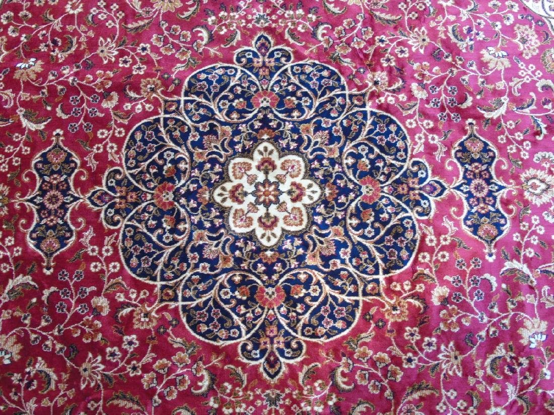 Rug / Carpet : Keshan machine made carpet with red - 5