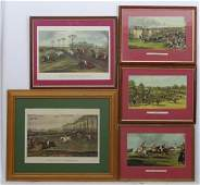 Horse Racing 5 assorted coloured prints Vale of