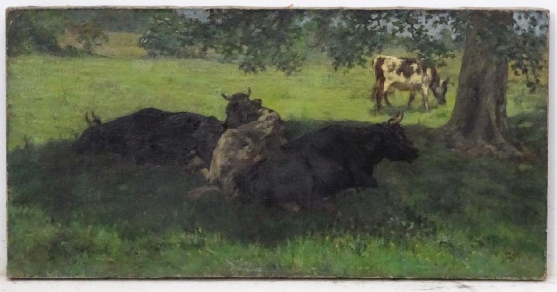 George Clausen (1852-1944), Oil on canvas, Cattle