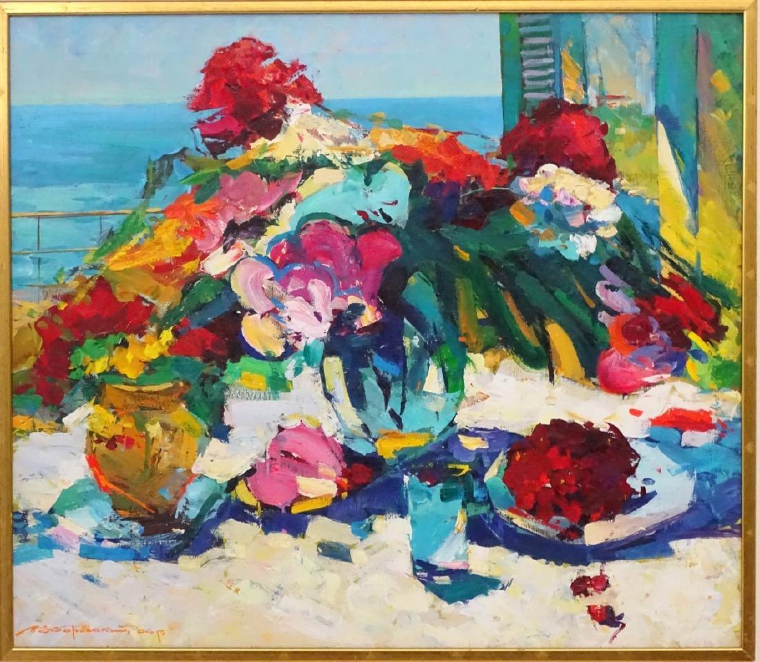Russian School XX Oil on canvas  Impressionist still - 3