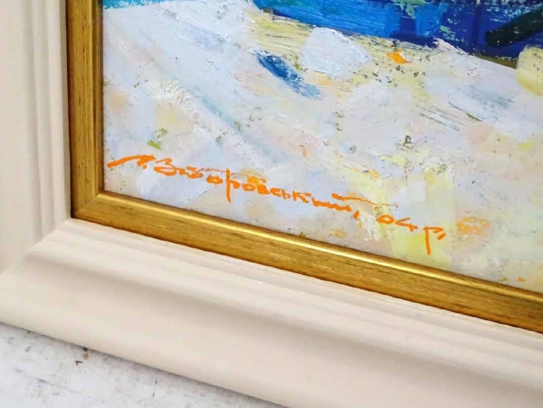 Russian School XX Oil on canvas  Impressionist still - 4