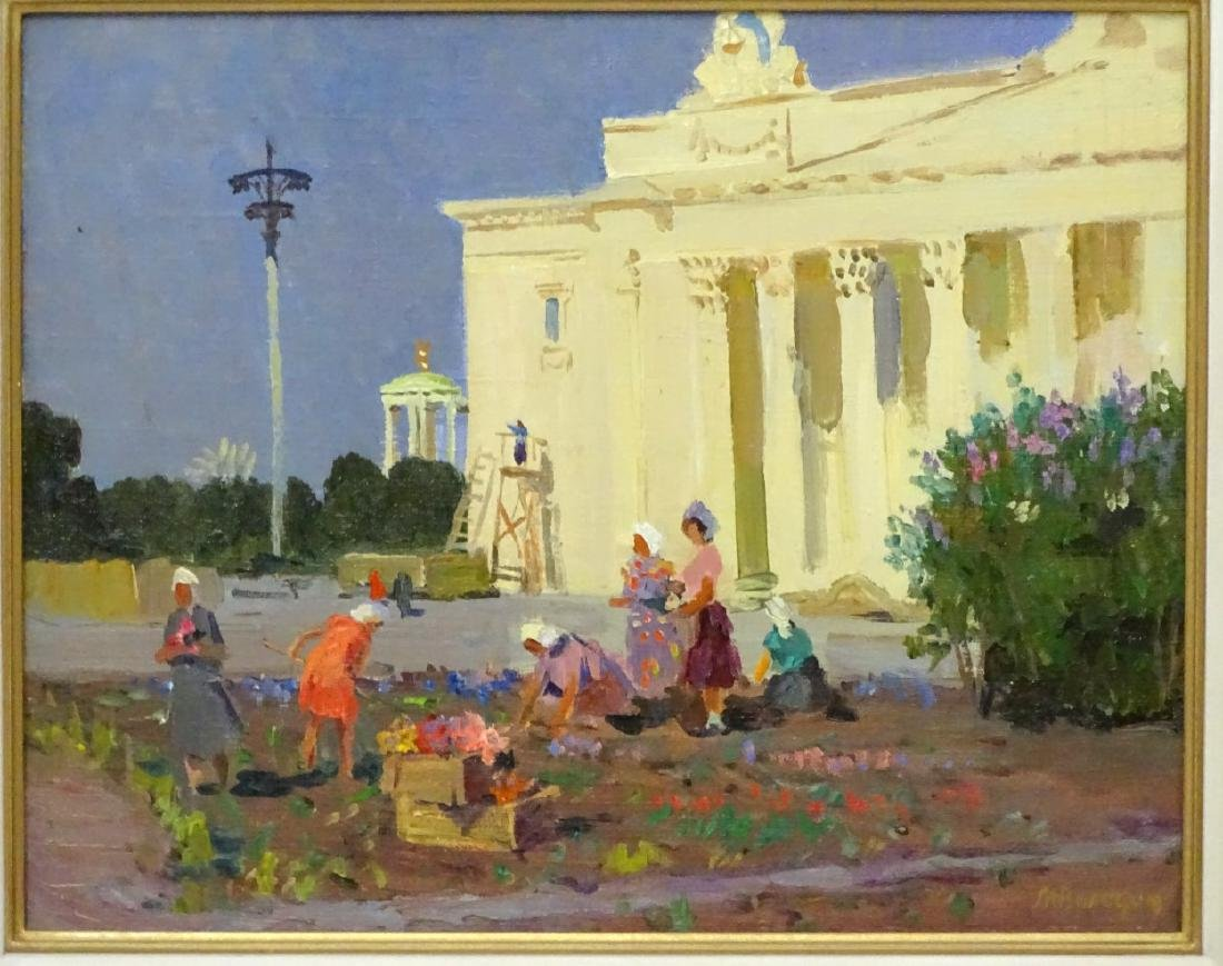 Mikhail Filipovitch Volodin (1912-1987), Russian. Oil - 3