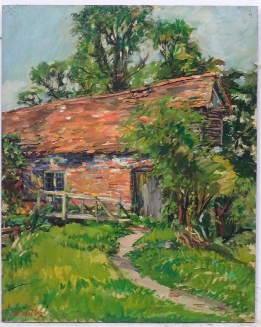 Nancy Weir (Sheppard) Huntly (1890-?), Oil on board,