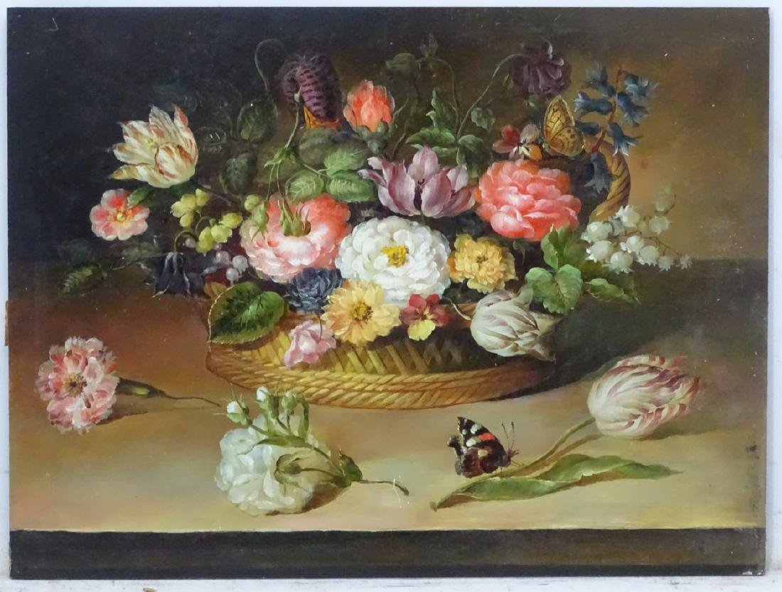 XX Continental School, Oil on panel? A still life with