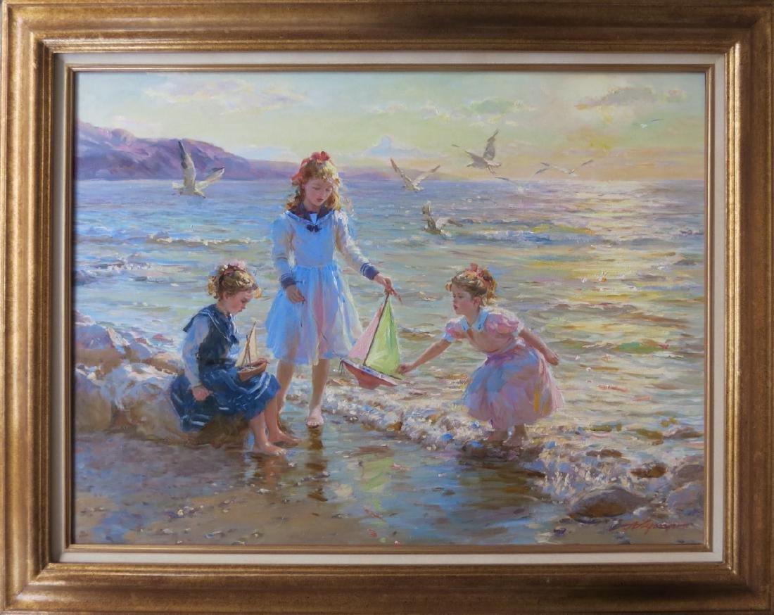 Alexandre Averin (b.1952), Russian.  Oil on canvas,