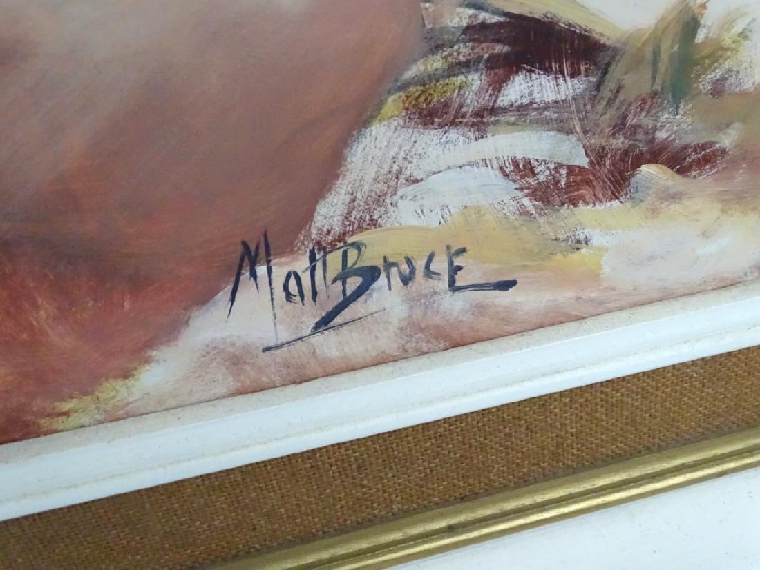Matt Bruce (1915-2000) Scottish, Large oil on board, A - 4