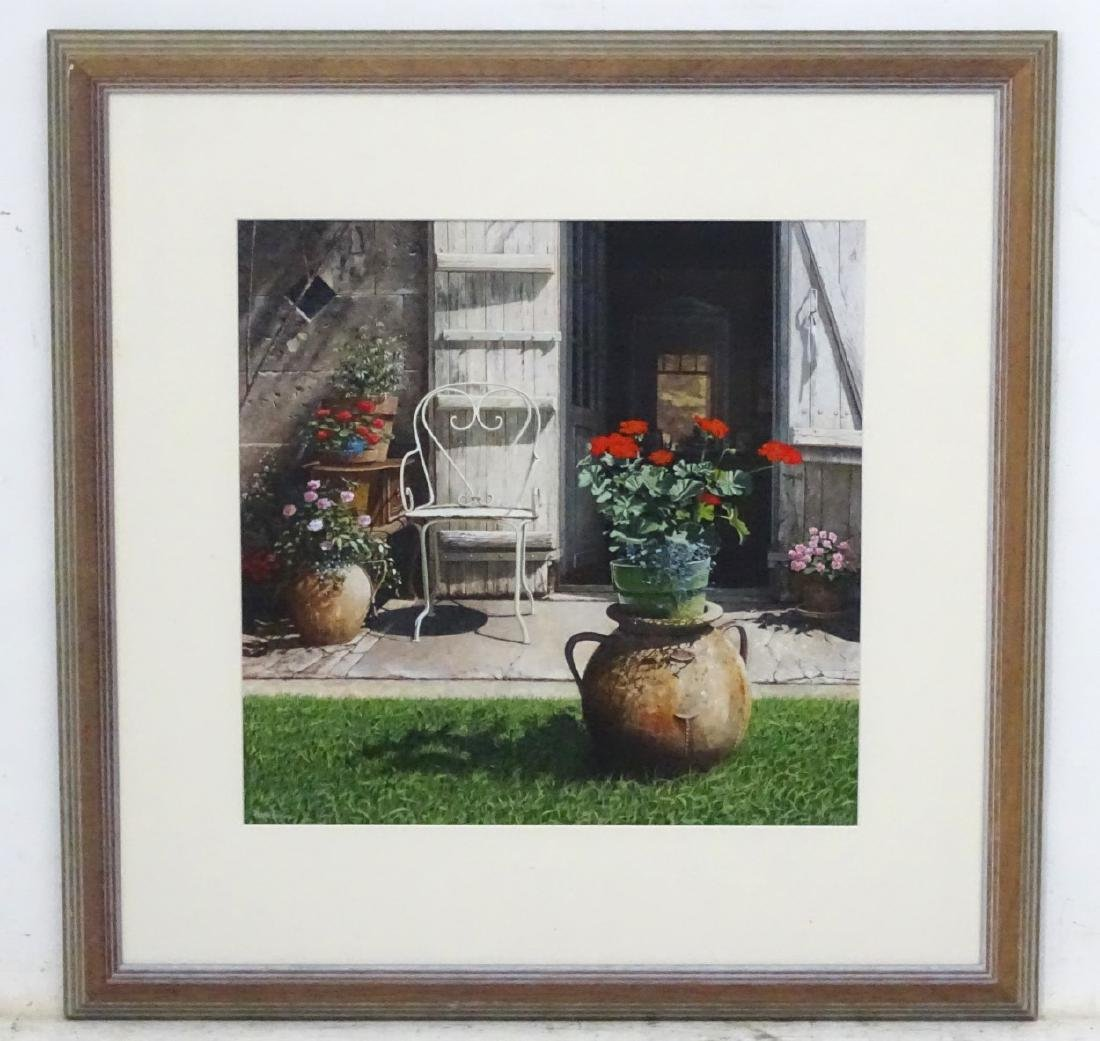 Peter Evans,  Acrylic on paper , 'Chez Louis' , Signed