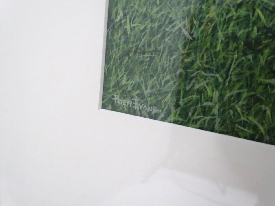 Peter Evans,  Acrylic on paper , 'Chez Louis' , Signed - 4