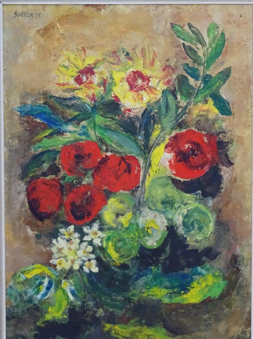 'Svetla 75', Oil on board Still life of flowers , - 3