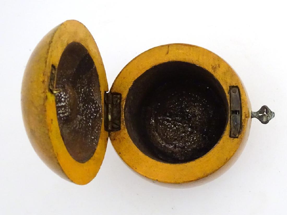 A 21stC tea caddy formed as an apple 4 1/2'' high - 10
