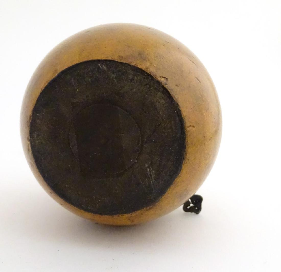 A 21stC tea caddy formed as an apple 4 1/2'' high - 2