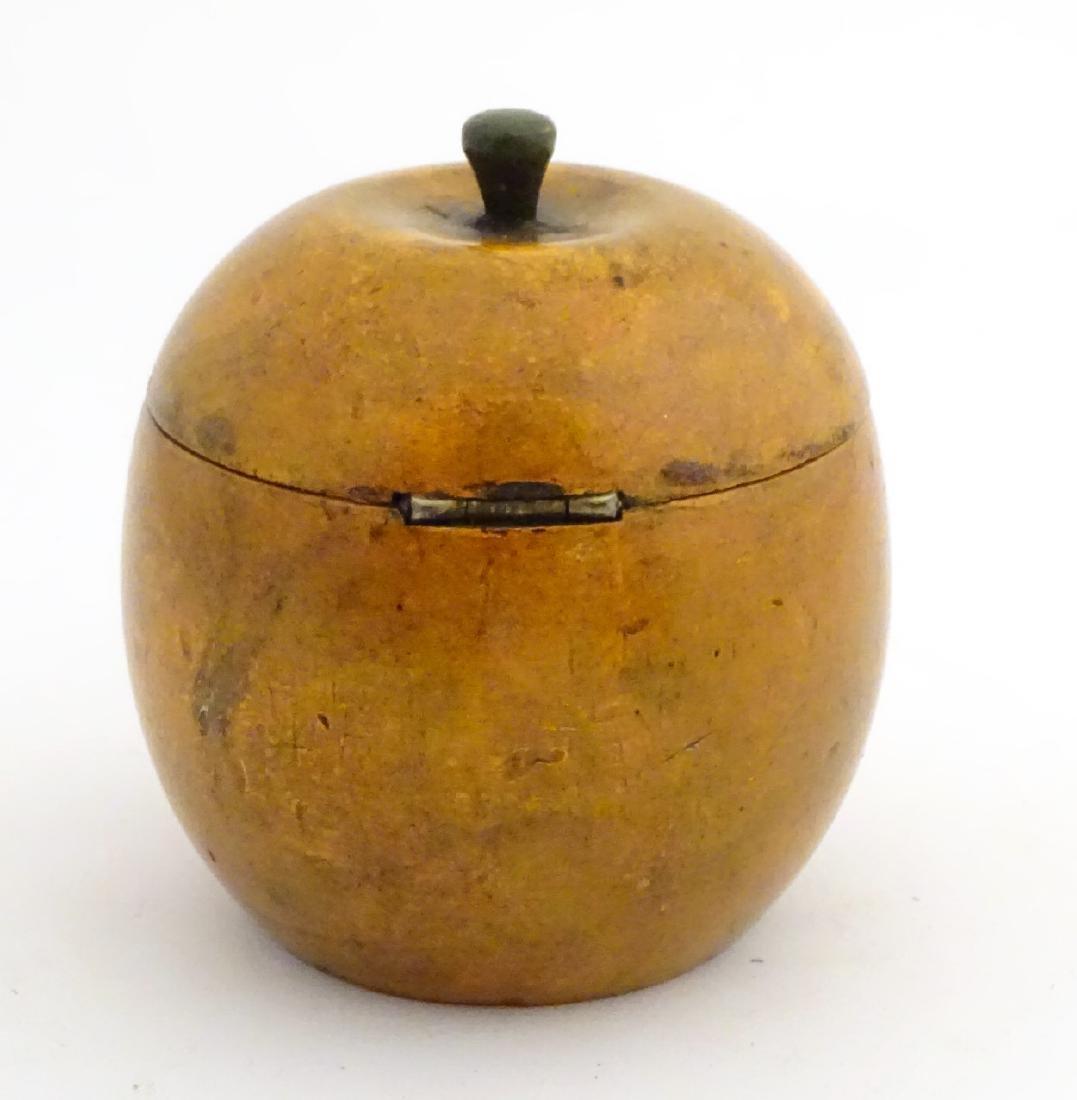 A 21stC tea caddy formed as an apple 4 1/2'' high - 5