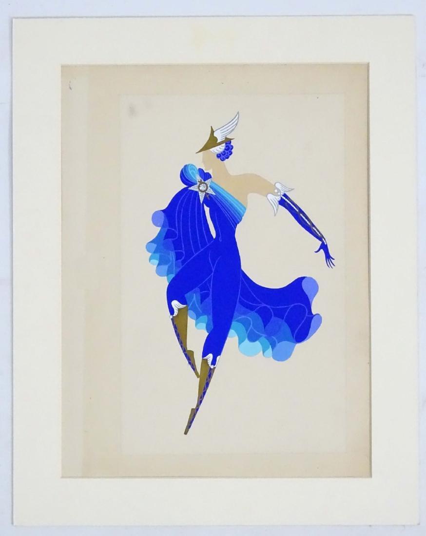 Erté (1892 - 1990) Gouache on paper Male theatrical