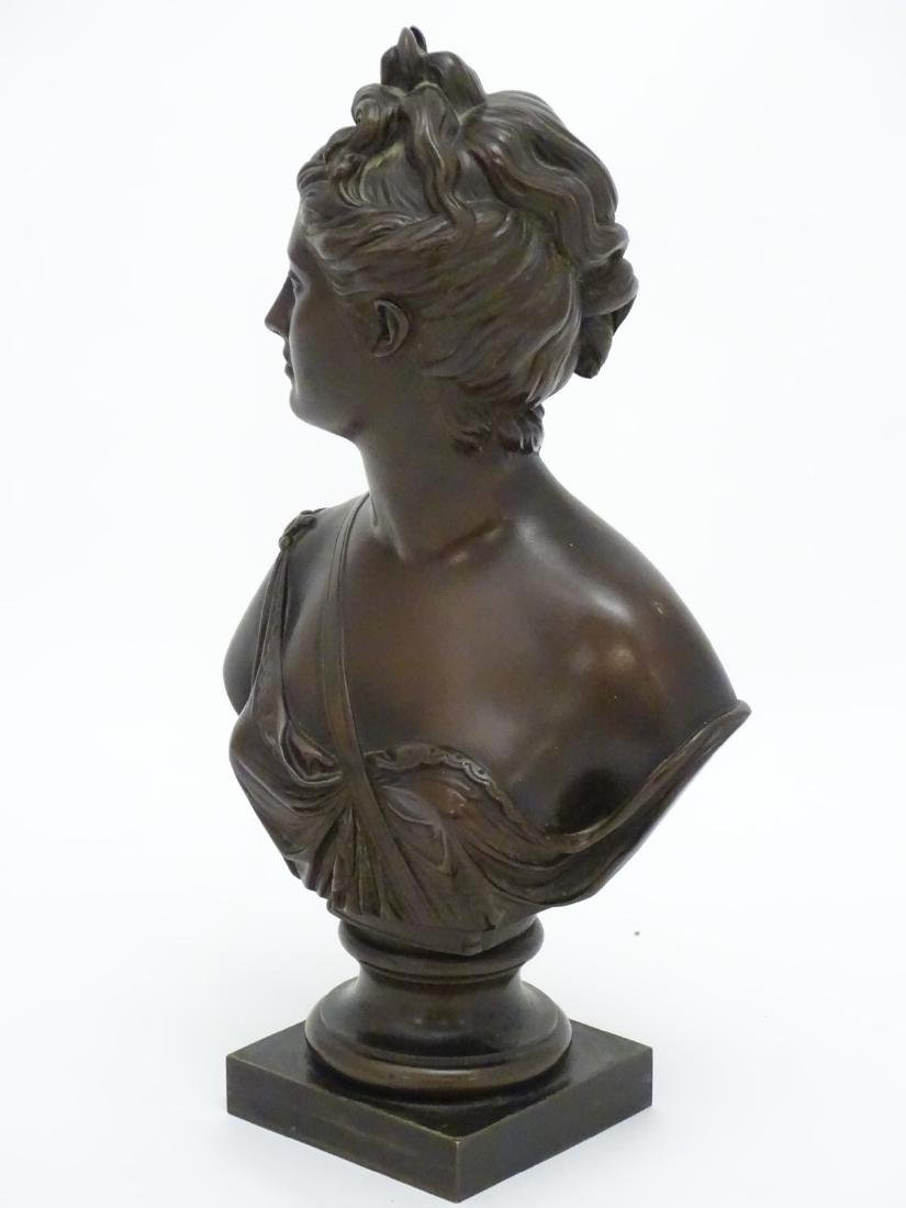 19 thC patinated cast bronze bust of the classical god - 5