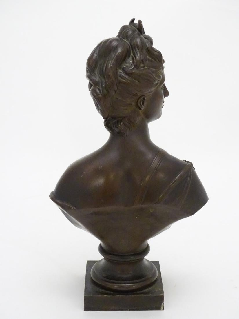 19 thC patinated cast bronze bust of the classical god - 6