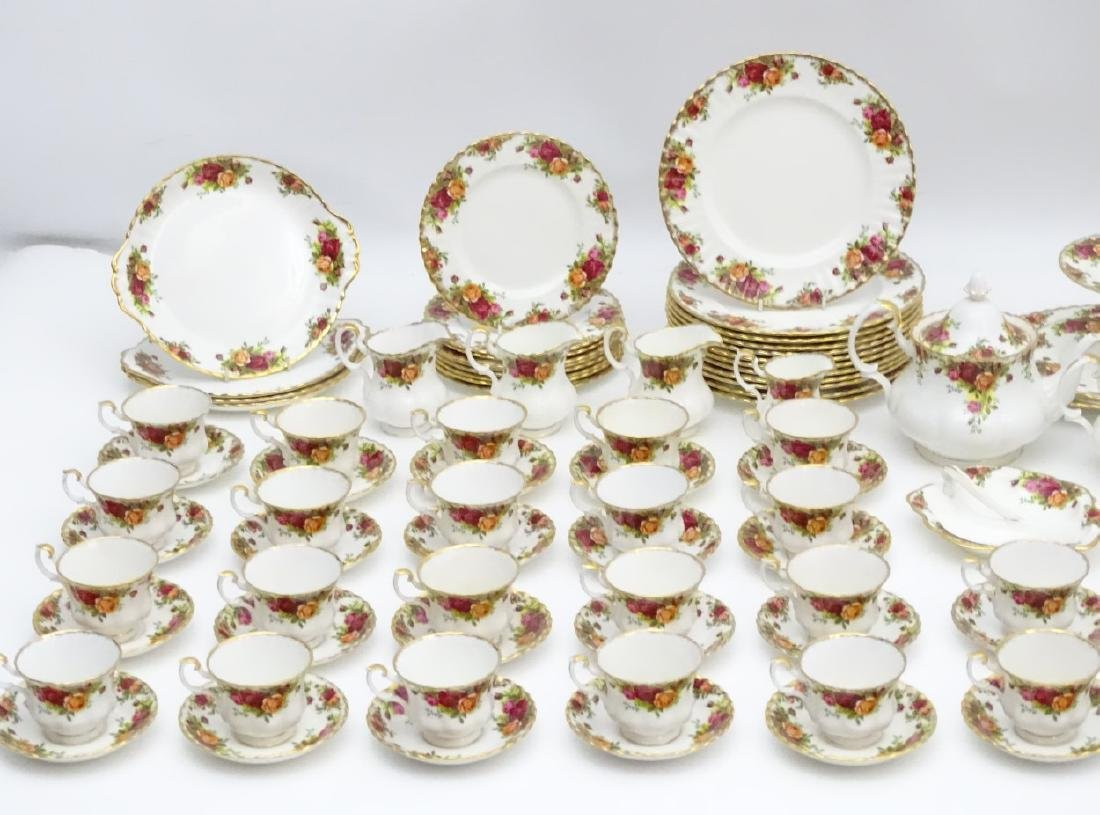 A large quantity of Royal Albert dinner wares in 'Old - 4