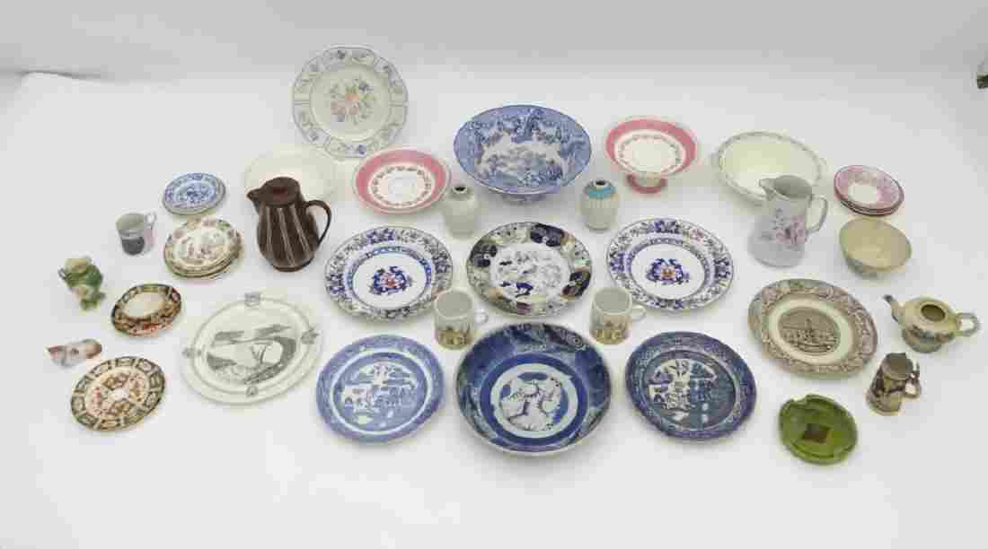 A quantity of assorted ceramics, makers to include