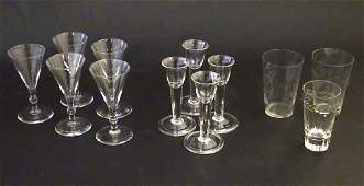 A quantity of assorted clear wine glasses and tumblers