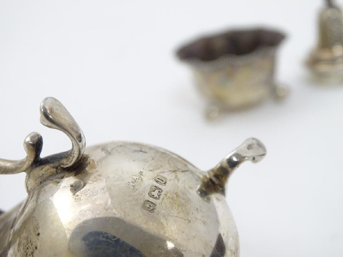 Assorted silver items to include a mustard pot - 4