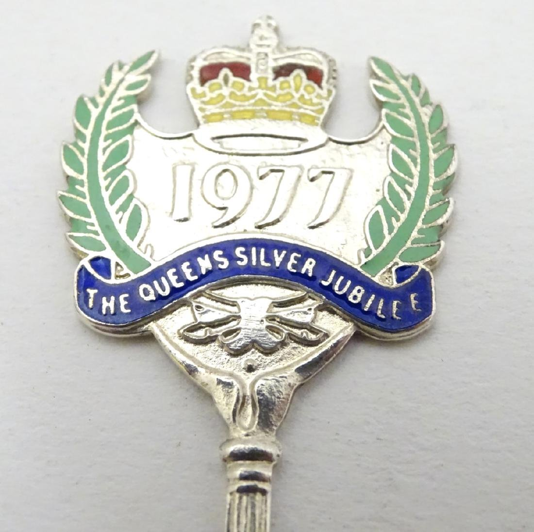 A silver commemorative teaspoon for ' the Queens Silver - 3