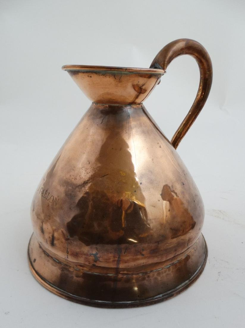 2 19thC / 20thC copper haystack / harvest jugs measures - 3