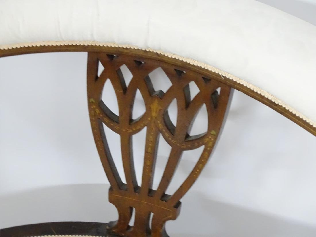 An early 20thC conversational sofa with curved - 6