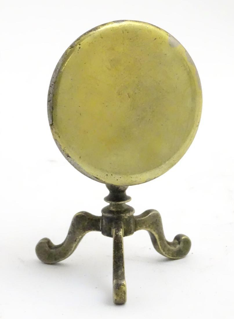 A late 19thC / early 20thC cast brass miniature tripod - 3
