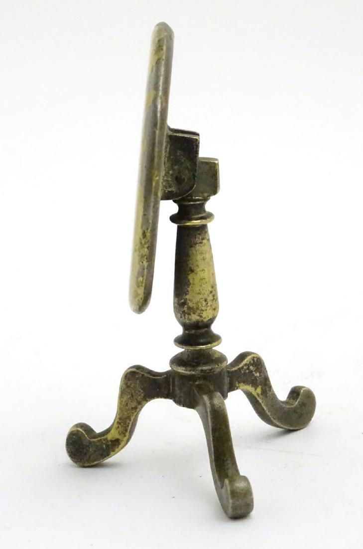 A late 19thC / early 20thC cast brass miniature tripod - 6