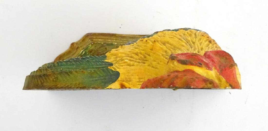 A cast iron doorstop formed as a polychrome painted - 2
